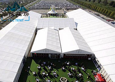 Movable Design Trade Show Tents With Clear PVC Fabric / VIP Cassette Flooring